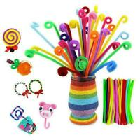 30cm Chenille Stems Pipe Cleaners For Craft 10 Colours or Pack Assorted F6V8