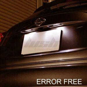 2x NISSAN JUKE / QASHQAI XENON WHITE LED NUMBER PLATE LIGHT BULBS ERROR FREE
