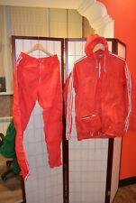 Adidas Firebird 80's retro vintage red running  tracksuit   180