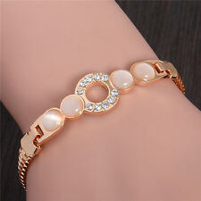 Exquisite 18k Gold Plated Shiny Austrian Crystal Women's Fashion Bracelet Gift