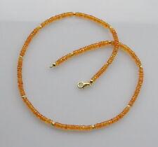 Mandaringranat-Kette oranger Spessartin Granat facettiert Halskette Damen 47 cm