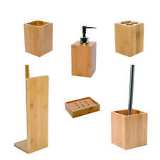 Ecobio Bamboo Bath Accessories Tumbler lotion soap dispenser soap dish ...