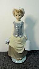 "Lladro Milk Maid Girl W/ Jugs ""Milkmaid"" #4939, 11.25"""