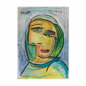 Antique watercolor of Pablo Picasso