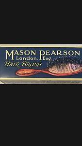 New Mason Pearson Handy Nylon Brush - N3 Detangler Ivory For Thick Hair W Cleanr
