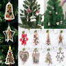 3D DIY Xmas Wood Hanging Tree Pendants Christmas Decoration Home Party Ornaments