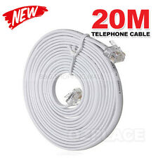 20M Telephone Phone Extension Cord Cable Plug for Adsl ADSL2 Filter Fax Plug