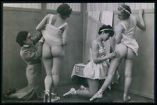 Biederer French nude woman big butt ballet girls original c1925 photo postcard