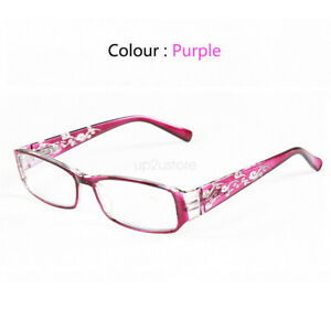 Spring Hinge Reading Glasses +4.5 +5.0 +5.5 +6.0 Strength Carved Plastic Frame