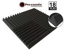 Genuine Pro-coustix Ultraflex cuña de alta calidad de espuma Tiles 18 paneles acústicos