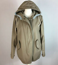Joules Stone Cotton Parka Hooded Jacket UK 10 Spring Summer Pockets