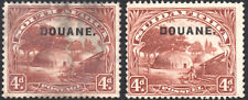 """South Africa Revenue 1926-33 4d brown, """"DOUANE."""" ovpt both languages Bft.23 used"""