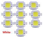 10Pcs DC 9-12V 10W Bright White 800-900LM SMD LED Lamp Bead Bulb Chip