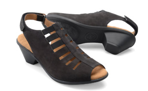 Comfortiva Faye Black Nubuck Wedge Sandal Women's sizes 6-11/NEW!!