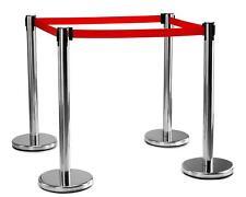 Barrière Sécurité Système de Balisage Personnes Discotheque VIP Aeroport Set 4x