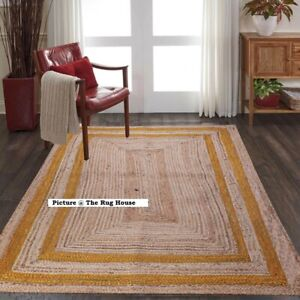 Rug 100% Natural Jute Runner Rug braided Style Living Area Rug Home Decor Rugs