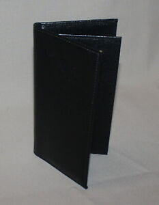 Mens Vintage Prince Gardner Long Black Cowhide Leather Travel Wallet New