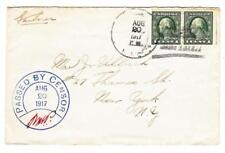 US NAVY AUG/20/1917(MUTE)-PASSED BY CENSOR-SCARCE