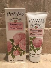 Crabtree Evelyn Rosewater Hand Cream New In Box Vintage