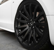 """18"""" MRR HR9 Wheels For Audi A4 Quattro VW Passat CC 18x8.5 Black rims set (4)"""