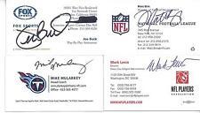 NFLPA DIRECTOR MARK LEVIN SIGNED BUSINESS CARD