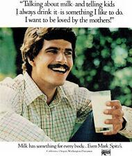 Mark Spitz Olympic Swimmer MILK California-Oregon-Washington Dairymen 1973 Ad