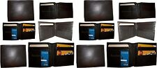 Lot of 12 Men's bifold genuine leather Wallet Brown Billfold credit card wallet