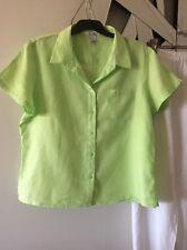 TARGET PURE LINEN Lime Green Short Sleeve Shirt 16 14