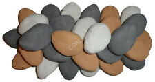 30XL MIXED GAS FIRE REPLACEMENT PEBBLES COALS STONES 70MMX 65 RCF CERTIFIED