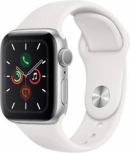 Apple Watch Serie 5 GPS 44mm MWVD2LL/A Silver Aluminum Case wit White Sport Band
