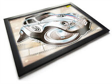 Koolart Cartoon Herbie the Love Bug Classic Movie Car A3 Wooden Framed Picture