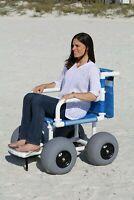 """Beach/All Terrain Wheelchair, 12"""" Balloon Tires for Soft Sand"""