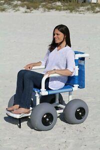 """Beach Wheelchair, 12"""" Balloon Tires for Soft Sand"""