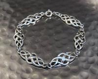 925 Sterling Silver Celtic Loop Knot Design Bangle Bracelet