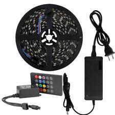 SUPERNIGHT® RGB 5M 5050 Black PCB 300 LED Strip Non-Waterproof+20Keys+12V Power