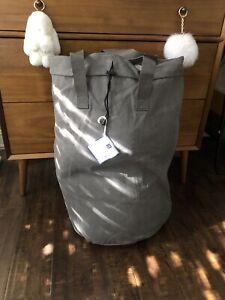 Pottery Barn Dorm Gray large Laundry Duffle Bag