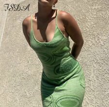 house of sunny style dress green cut out long beach summer knit y2k midi party