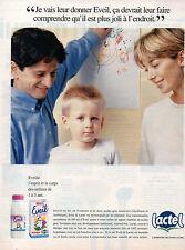 Publicité 1995  LACTEL EVEIL  lait de croissance
