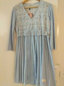 Odd Molly Good Mood Dress Broderie Anglaise Pastel Blue Size 1 New