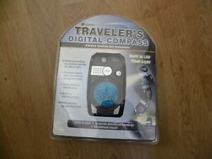 Traveler's Digital Compass by Superex - NEW SEALED