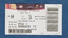 Orig.Ticket  Europa League  2010/11  PSV EINDHOVEN - GLASGOW RANGERS  1/8 F. / B