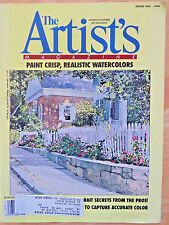 THE ARTIST'S MAGAZINE1992 AUG CRISP REALISTIC WATERCOLORS PRO TIPS