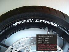8Felgenrandaufkleber MV-AGUSTA-CORSE-f4-brutale Felge Stripes Motorrad Rim344