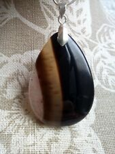 Lovely Druzy Agate Pendant with Chain.Free P&P/°0.1x.
