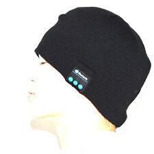 Black Warm Bluetooth Beanie Hat Music Winter Headphone Headset Speakers