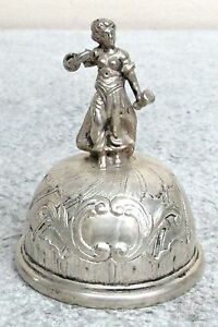 ORIGINAL 19th CENTURY GERMAN SILVER DINNER BELL