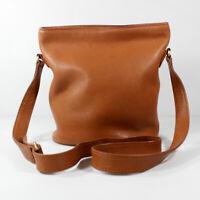 Coach Cross Body Bucket Bag Pebbled Leather Cognac Tan Sonoma 4907 Vintage VGUC