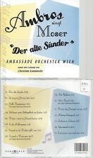 CD--WOLFGANG AMBROS  AMBROS SINGT MOSER  DER ALTE SÜNDER