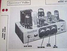 TONE PAK AC8HF AMPLIFIER AMP PHOTOFACT