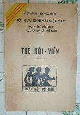 South Vietnam Veterans Assc - SAIGON - 1966 - ID CARD - TRAN HAI - War ID - 1998